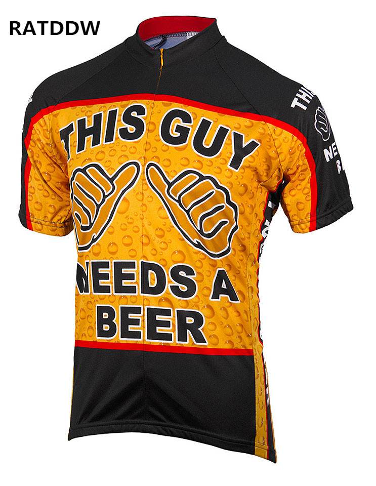 This Guy Needs a Beer Men Cycling Jersey Roupa Ciclismo Breathable Cycling Clothing/Quick-Dry Bike Jersey Sportswear