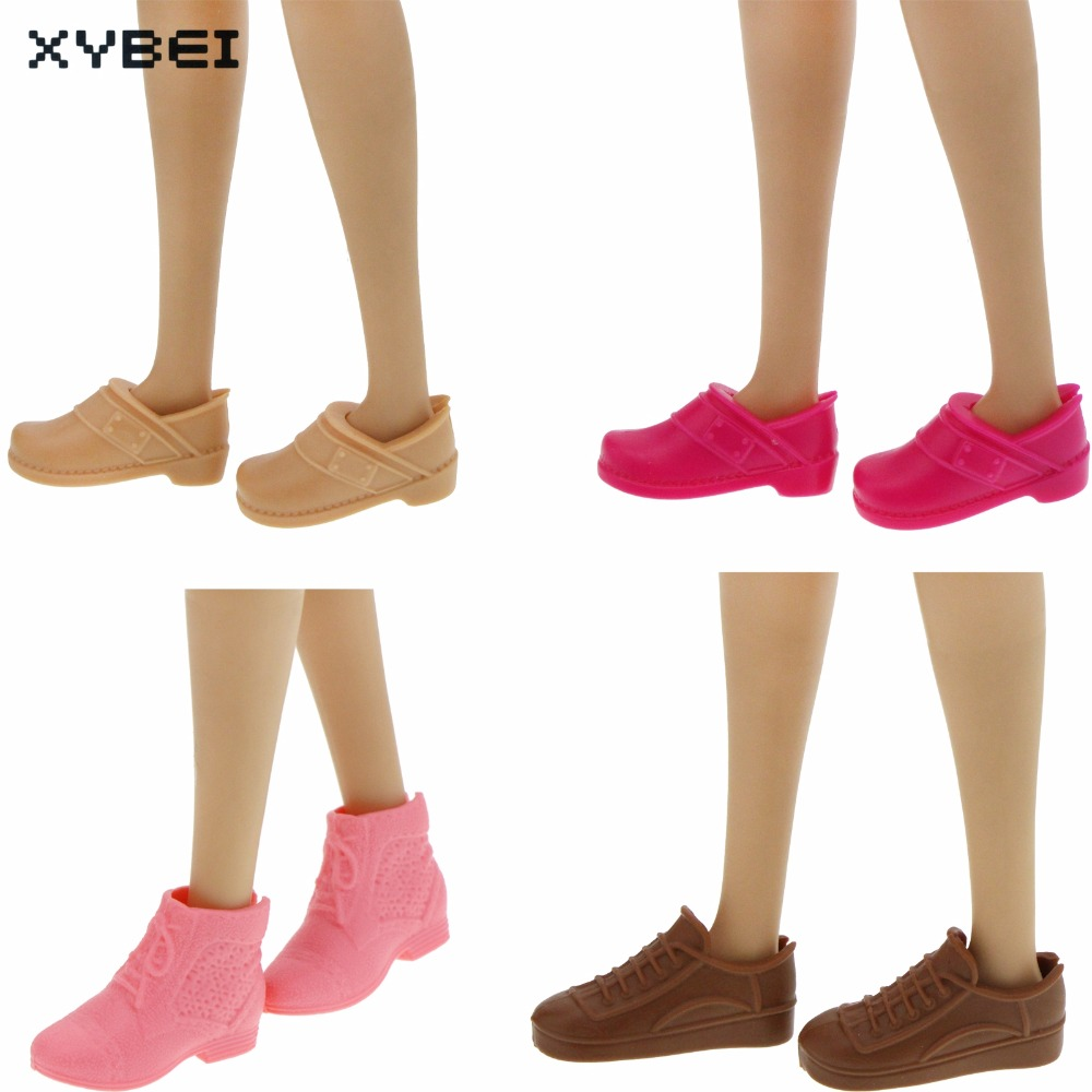 High Quality Cute Flat Shoes Sport Casual Daily Wear Assorted Style Sandal Sneaker For Barbie Doll DIY Accessories Kid Gift Toy