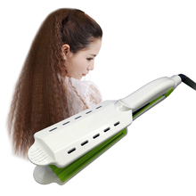 1 pis curling hair styling iron Digital Tourmaline ceramic 360 Rotatable Dry & wet hair straightener irons flat iron chapinha