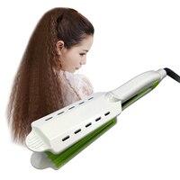 1 Pis Digital Tourmaline Ceramic 360 Rotatable Dry Wet Hair Straightening Irons Flat Iron Styling Tools