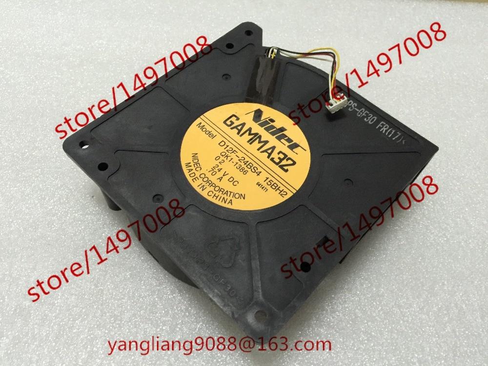 Nidec D12F-24BS4, 15BH2 DC 24V 0.70A , 120x120x32mm Server Square fan nidec ta350dc c35403 57 server square fan dc 24v 0 15a 92x92x25mm 3 wire