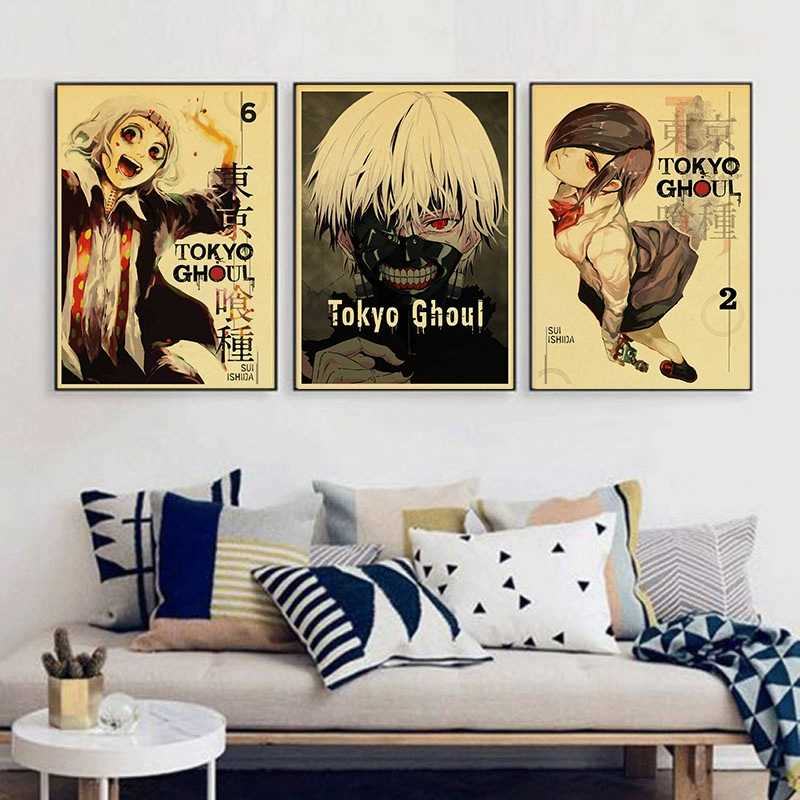 Japanese cartoon anime Tokyo Ghoul Zombie Vintage Paper Poster Wall Painting Home Decoration 42X30 CM 30X21 CM