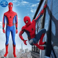 MANLUYUNXIAO 2017 Homecoming Spiderman Costume Men Spiderman Homecoming Cosplay Costume Tom Holland Spiderman Costume Customize