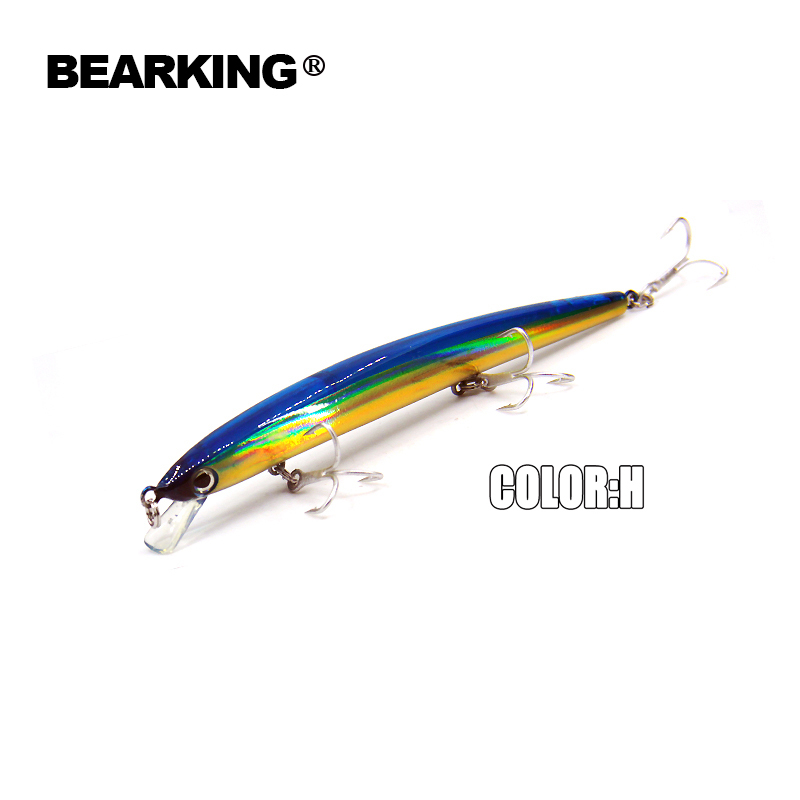 140mm/16g,5pcs/.lot. Color send randomly! 2017 good fishing lures minnow,quality Bearking professional minnow