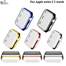 цена на For Apple series 2/3 watch protective case 38mm 42mm Replacement plating protective case luxury All-round protection Accessories