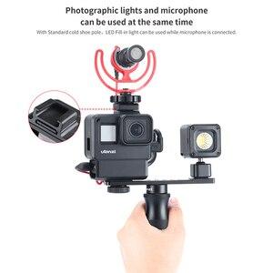 Image 2 - 울란 지 V2 프로 V3 프로 Gopro Vlog 케이스 케이지 52 미리 메터 필터 마이크 어댑터 렌즈 후드 Vlogging 케이스 Gopro 7 6 5