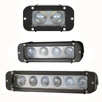 4D Single Row LED Off Road Light Bars 4 20W 8 40W 11 inch 60W Led Fog Lights for Offroad Volvo Ford Jeep Toyota Motorcycles