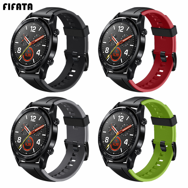 FIFATA 22mm Bracelet For Huawei Watch GT Strap Silicone Wrisrband For Huawei GT Watch Band/Magic For Xiaomi Amazfit Stratos/Pace