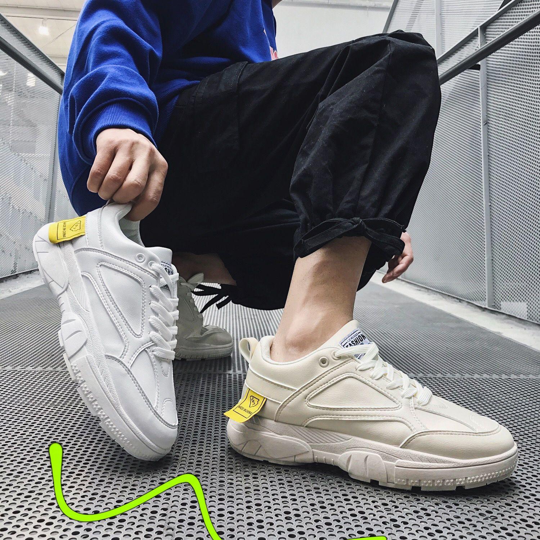 2019 up Moda Lac Alta Tênis Flats Caminhada Homens Respirável Sapatos Qualidade Bege Couro Novo preto branco De Casuais Dos rqzrO4