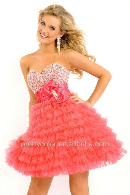 tulle a line prom dress discount pageant gowns kids homecoming ...
