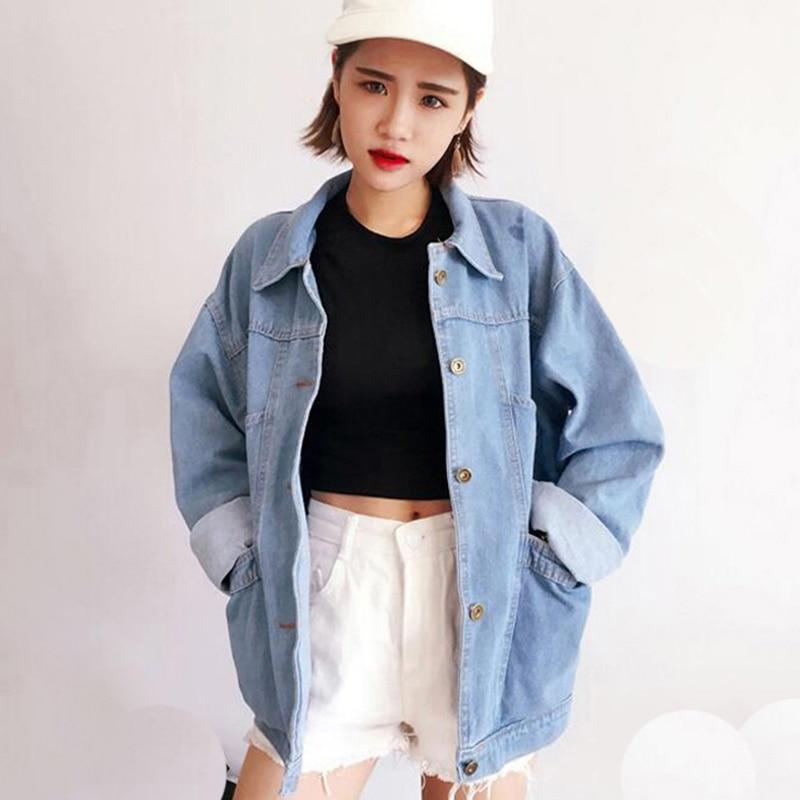 Spring autumn Woman Fashion   Basic     Jackets   2018 new Ladies Vintage Denim   Jacket   Europe Style Women Jean Outerwear Coats QH1182
