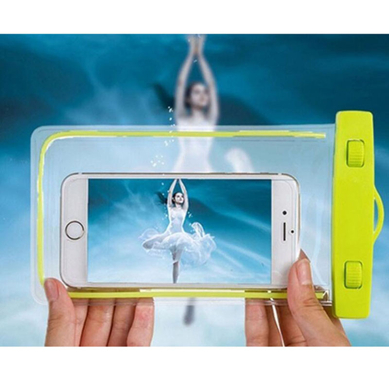 Universal Waterproof Mobile Phone Case For iPhone 8 Samsung S10 Clear PVC Sealed Underwater Cell Smart Phone Swimming Pouch Cove in Phone Pouches from Cellphones Telecommunications