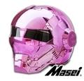 Personalidad de la motocicleta Genuinos hombres y mujeres casco de iron man retro de gama alta off-road moto completo de polvos para la cara plating