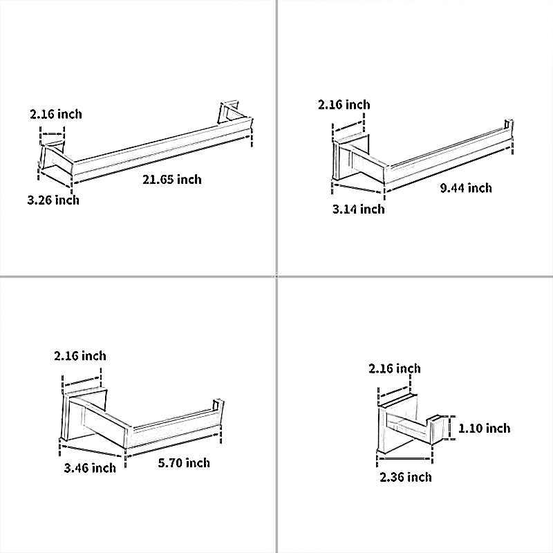 Fapully Chrome akcesoria łazienkowe 4 szt. Zestawy do kąpieli 304 wieszak na ręczniki ze stali nierdzewnej papierowy haczyk do zawieszania wieszak ścienny G118-4C
