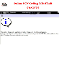 One Time Server Log In Online Scn Coding For Diagnostic Tool Mb Star C4 Sd C5 Sd Connect Compact C6 For Mb Cars 100% Working