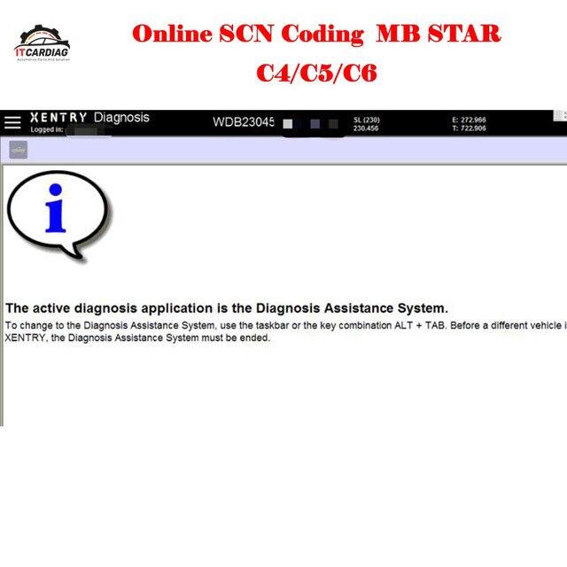 Une fois serveur connectez-vous en ligne Scn codage pour outil de Diagnostic Mb Star C4 Sd C5 Sd Connect Compact C6 pour Mb Cars 100% travail