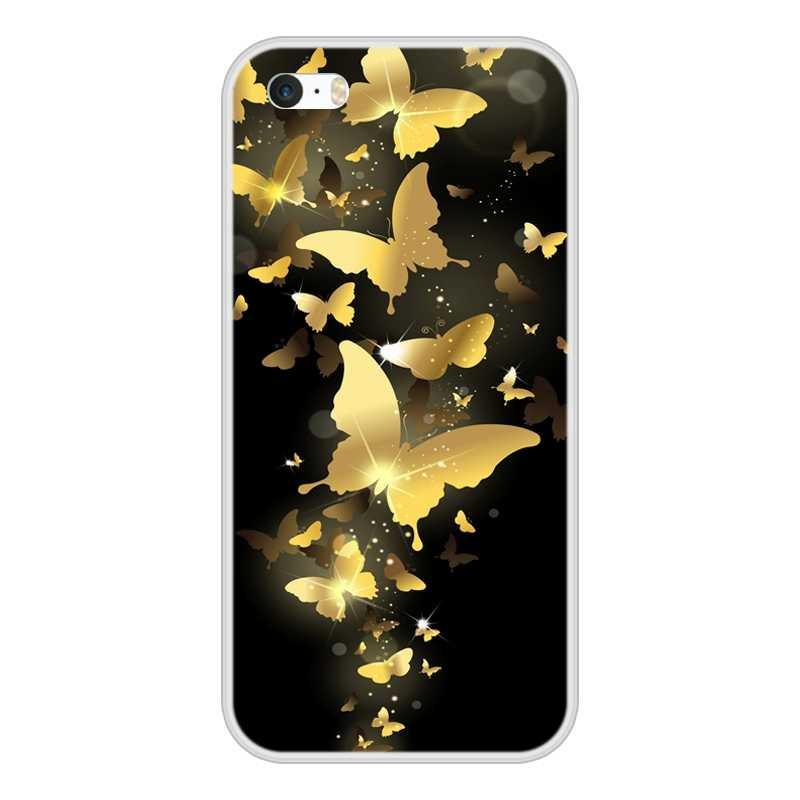 الأزياء الهاتف حالات ل ابل اي فون 4 4 S 5 5S 5C SE Fundas كوكه ل فون 5 4 S غطاء من السيليكون لينة الغطاء الخلفي