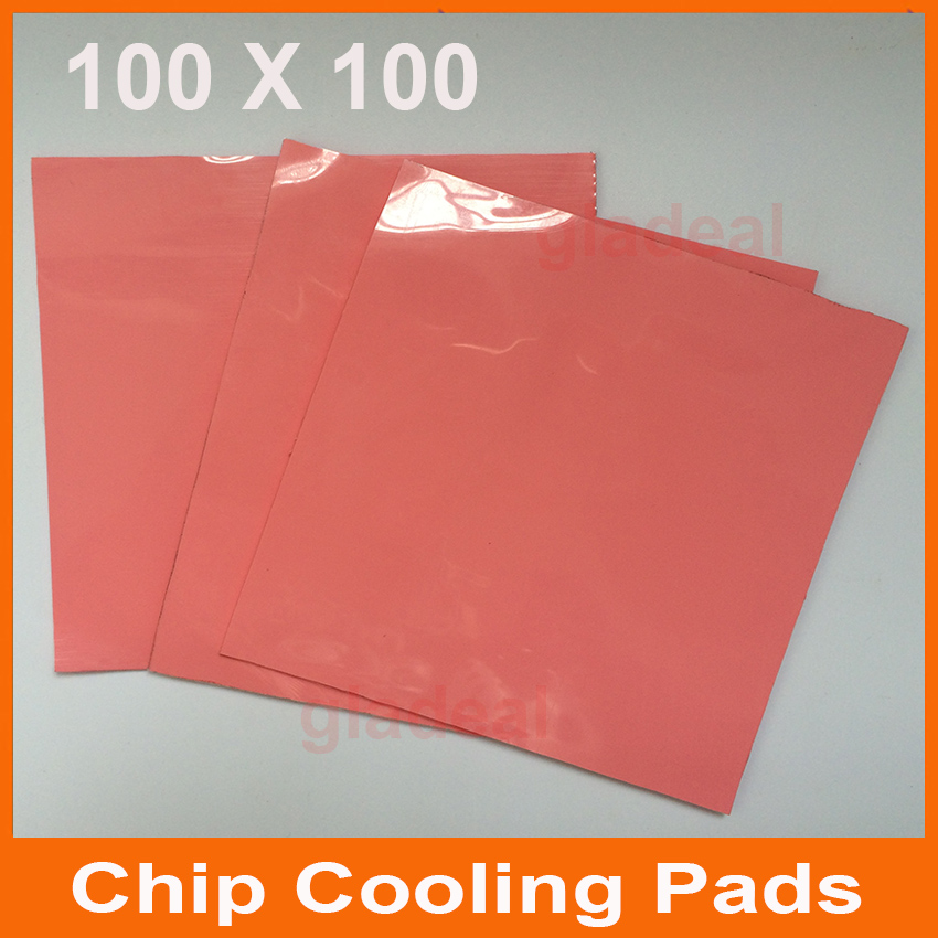 3pcs/set Blue Chip Thermal Pad GPU CPU Heatsink Cooling Conductive Silicone 100mm*100mm*0.5,1,1.5,2,3,4,5mm synthetic graphite cooling film paste 300mm 300mm 0 025mm high thermal conductivity heat sink flat cpu phone led memory router