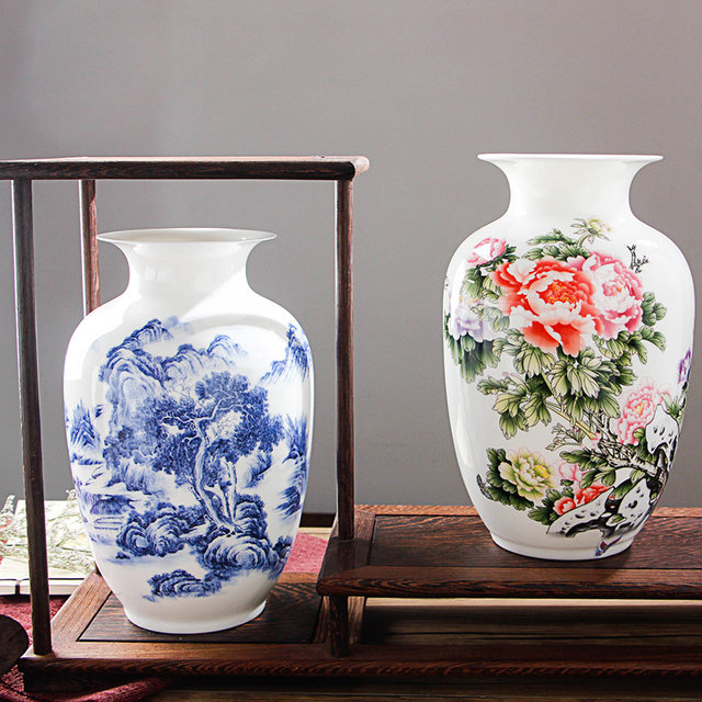 Online Shop Jingdezhen Fine Bone China Vase Antique Chinese Vases