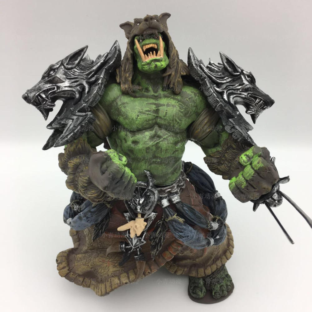 Dc Unlimited 1 Wow Action Figure 7.75 Pollice Orc Shaman [rehgar Earthfury] Wow Carattere Pvc Figure