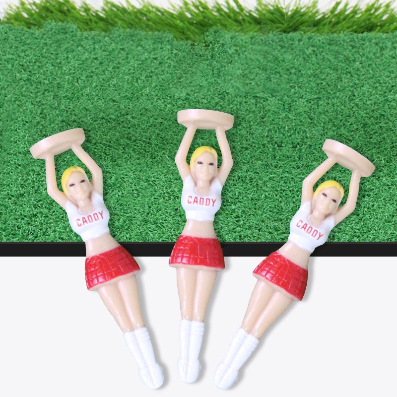 3PCS Plastic Golf Tees Golf Style Golf Balls Tee Cushion Lovely Sexy Bikini Lady Gift Newest Design Plastic Tees Golf Tools