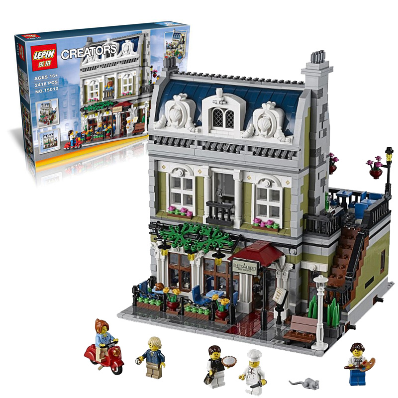 Love.thank you 15010 Creator Expert City Street Parisian Restaurant Model Building Blocks Toy Compatible 10243 Christmas Gifts new lepin 15010 expert city street parisian restaurant model building kits blocks funny children toys compatible with 10243 gift