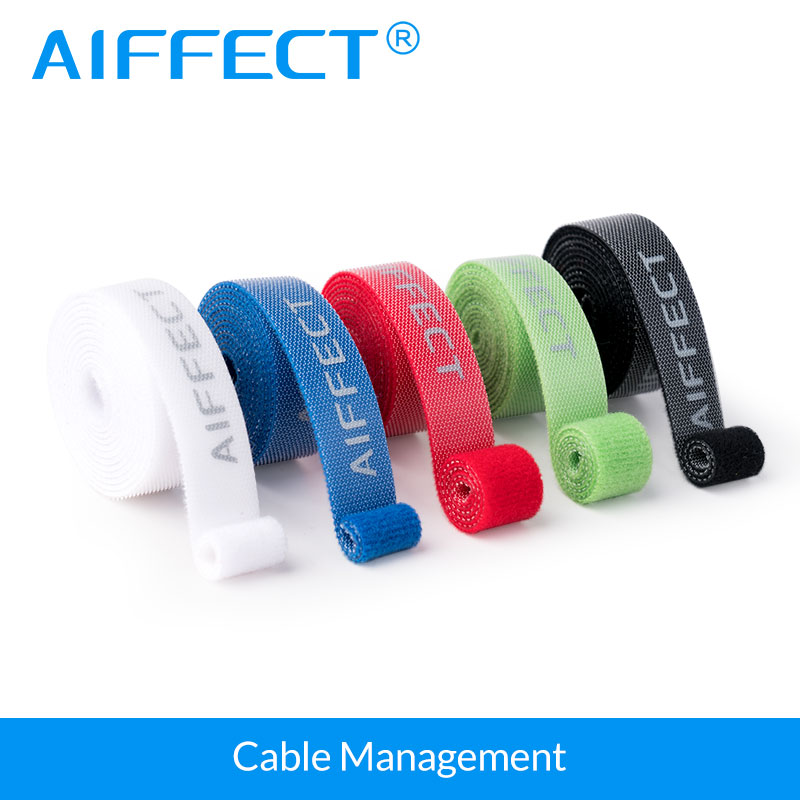 AIFEECT 5 PCS Nylon Cable Winder Cable Wire Organizer Cable Wire Management Protetor Ties Wrapped Cord Line Reusable Wire Winder aifeect 5 pcs nylon cable winder cable wire organizer cable wire management protetor ties wrapped cord line reusable wire winder