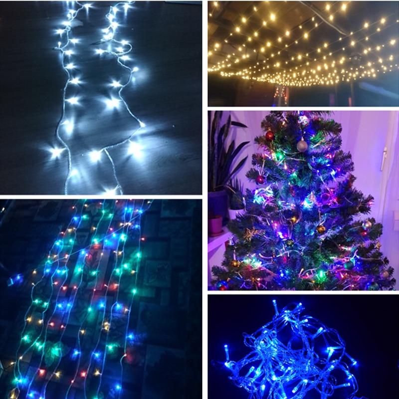 AIFENG Julelys 5M 10M 20M 30M 50M 100M Ledstring Fairy Light 8 - Ferie belysning - Bilde 5