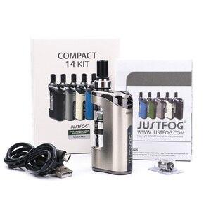Image 3 - Набор испарителей JustFog Compact 14, встроенный аккумулятор 1500 мА · ч, электронная сигарета, набор с 1.2 Ом/Ом, Бак клиромайзер Q14, набор для вейпа