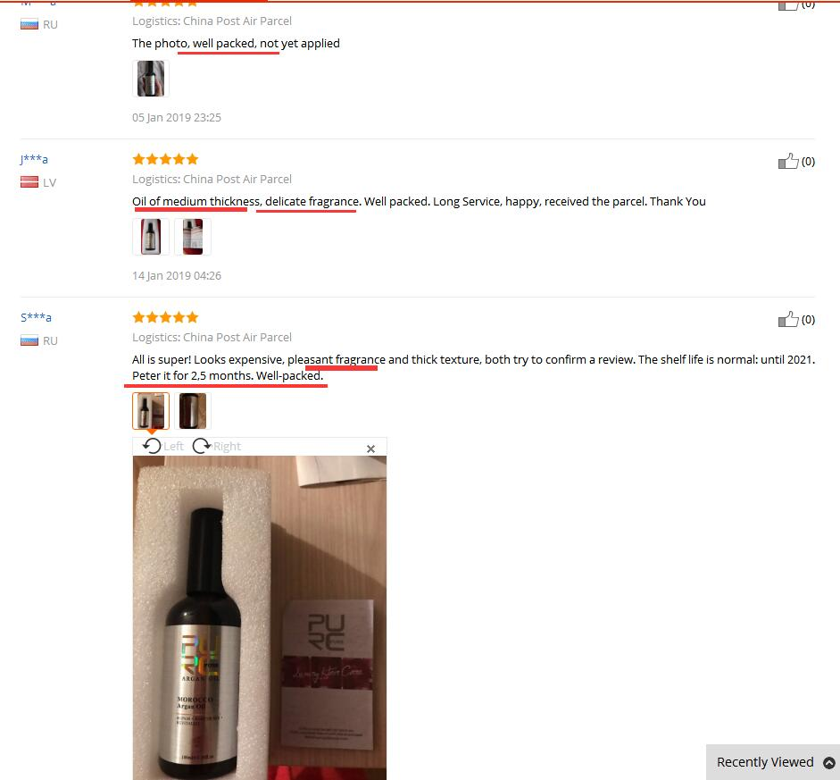 Argan oil feedback 2