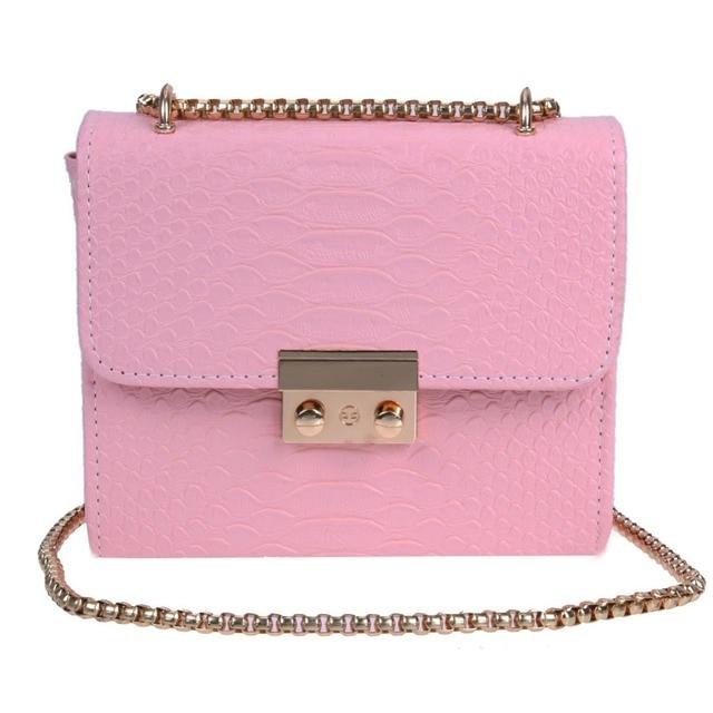 2c6560b5990b Fashion Small Women Messenger Bag Luxury Crocodile Pattern Shoulder Bags  Female Chain Crossbody Leather Handbag Clutch Bolsos