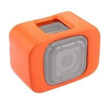 כתום פלסטיק ללכת פרו לצוף מקרה עבור GoPro Hero 4 מושב 5 מושב אביזרי מתנפנף מקרה מגן צלילה גלישה כיסוי