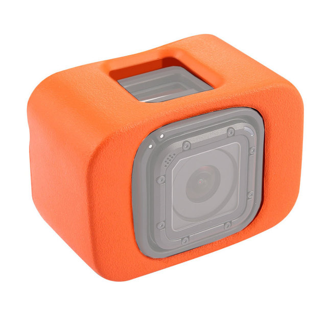 Orange Plastic Go Pro Float Case for GoPro Hero 4 Session 5 Session Accessories Floaty Case Protective Diving Surfing Cover