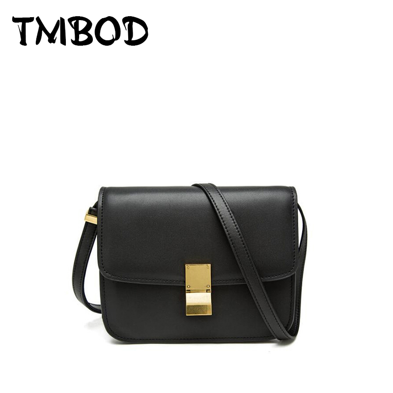 New 2017 Design Brands Small Flap Women Classical Box Bag Split Leather Handbags Ladies Cowhide Messenger Bag For Female an398