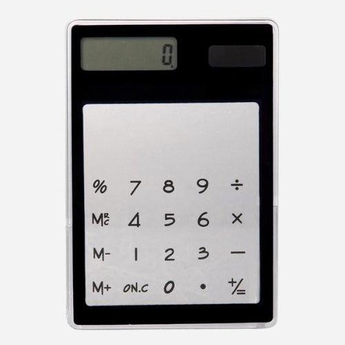 YOC Desk Solar Transparent Touch font b Calculator b font Black 8 figures