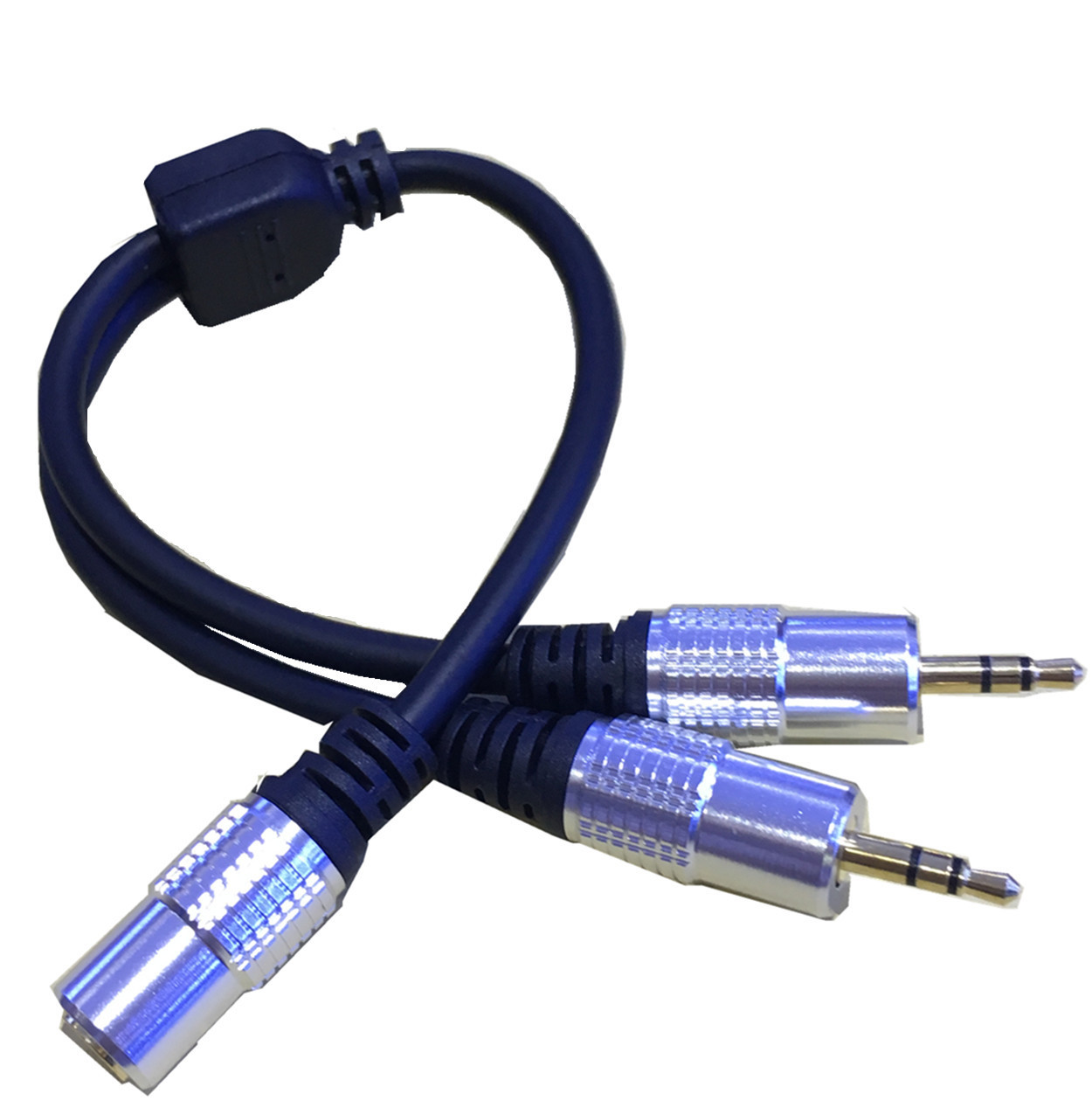 Back To Search Resultscomputer & Office Friendly Dc 3.5mm Trrs 3 Pole Male To 2 3.5mm Female Input Trs Stereo Audio Adapter Splitter Cable Microphone And Headset 0.3m