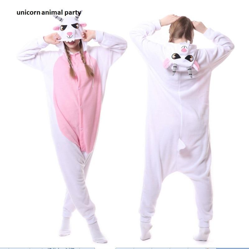 Kigurumi Adulto Unisex Cabra Onesies Pijamas Fleece Ovejas Pijamas - Disfraces