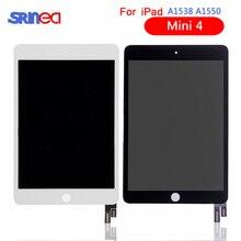 LCD Için iPad Mini 4 Mini4 A1538 A1550 LCD ekran dokunmatik ekran paneli Meclisi Değiştirme LCD sayısallaştırıcı Siyah Ve Beyaz