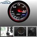 Universal 12 V Negro Cara Chrome Auto Car Motor 60mm Turbo Boost Gauge Meter Defi Sensor Con Soporte