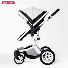 Hot sell TEKNUM baby Stroller Multi function Folding car Leather material ,Windproof Waterproof Best shock absorbers Light