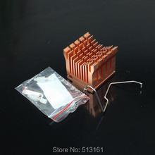 5 Pieces Aluminum Cooler Heatsink DIY Northbridge Golden Cooling Heat sinks