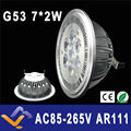 G53 ES111 QR111 AR111 LED lamp 14W Spotlights Warm White /Nature White/Cool White Input AC 85-265V   3 years warranty