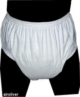 Free Shipping FUUBUU2209 WHITE Shorts Incontinence Pants Pocket Diapers Adult Baby ABDL