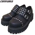 Real photos 2017 New Top quality Women Punk Shoes British Style Classic Women Black Harajuku Goth Platform Rivets Shoes