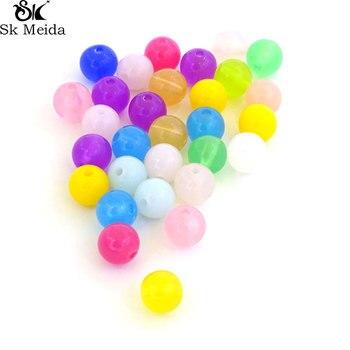 Surtido de cuentas acrílicas de Color caramelo de 8mm, materiales de joyería...