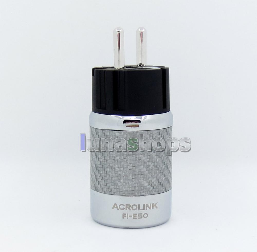 ACROLINK FI-50R EU NCF Carbon Rhodium Plated Power Male DIY Adapter Socket Freezing at -196 degree furutech fi e30 ncf r