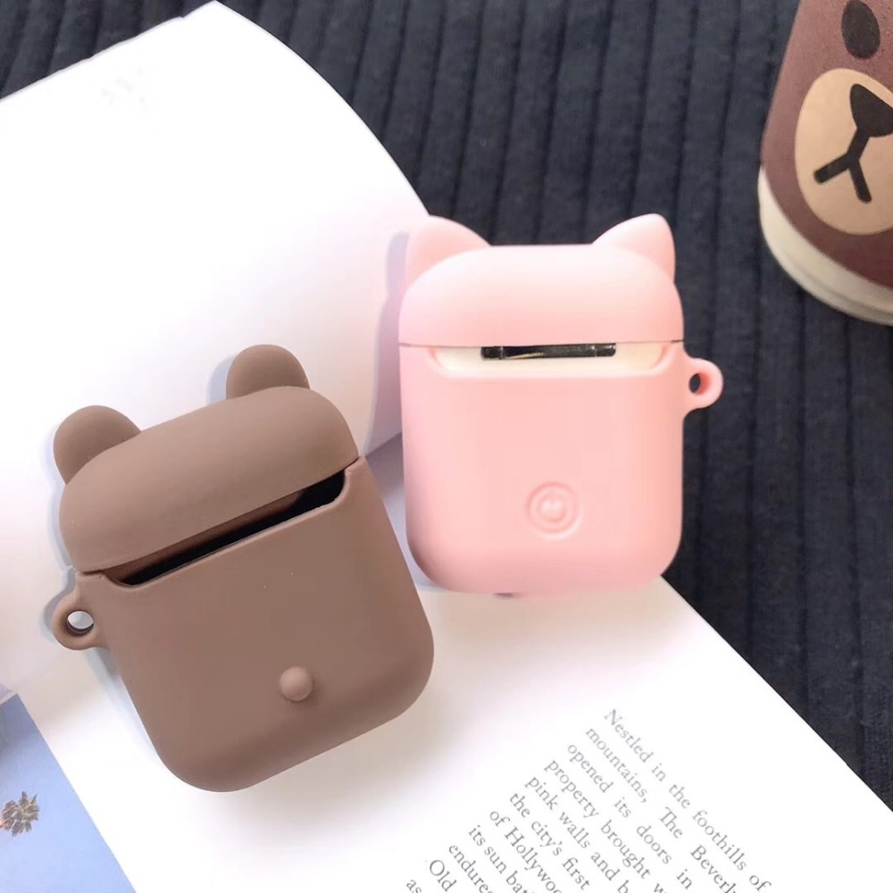 Image 2 - Cartoon Wireless Bluetooth Earphone Case For Apple AirPods Silicone Charging Headphones Cases For Airpods Protective Cover-in Earphone Accessories from Consumer Electronics