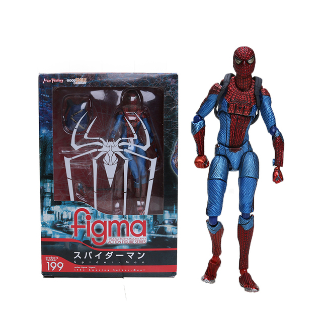 Vingadores Brinquedos Figma Endgame 15 centímetros The Amazing Spiderman Série Final Capitão América Thor Action Figure Collectible Modelo Toy