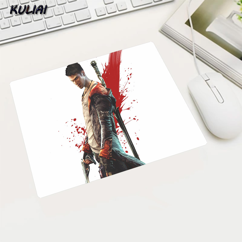 KULIAI Featured Fashion White Bottom Devil May Cry Rubber Slip MousePad Gamer Computer Mouse Pad Decorate Your Desktop for DOTA2