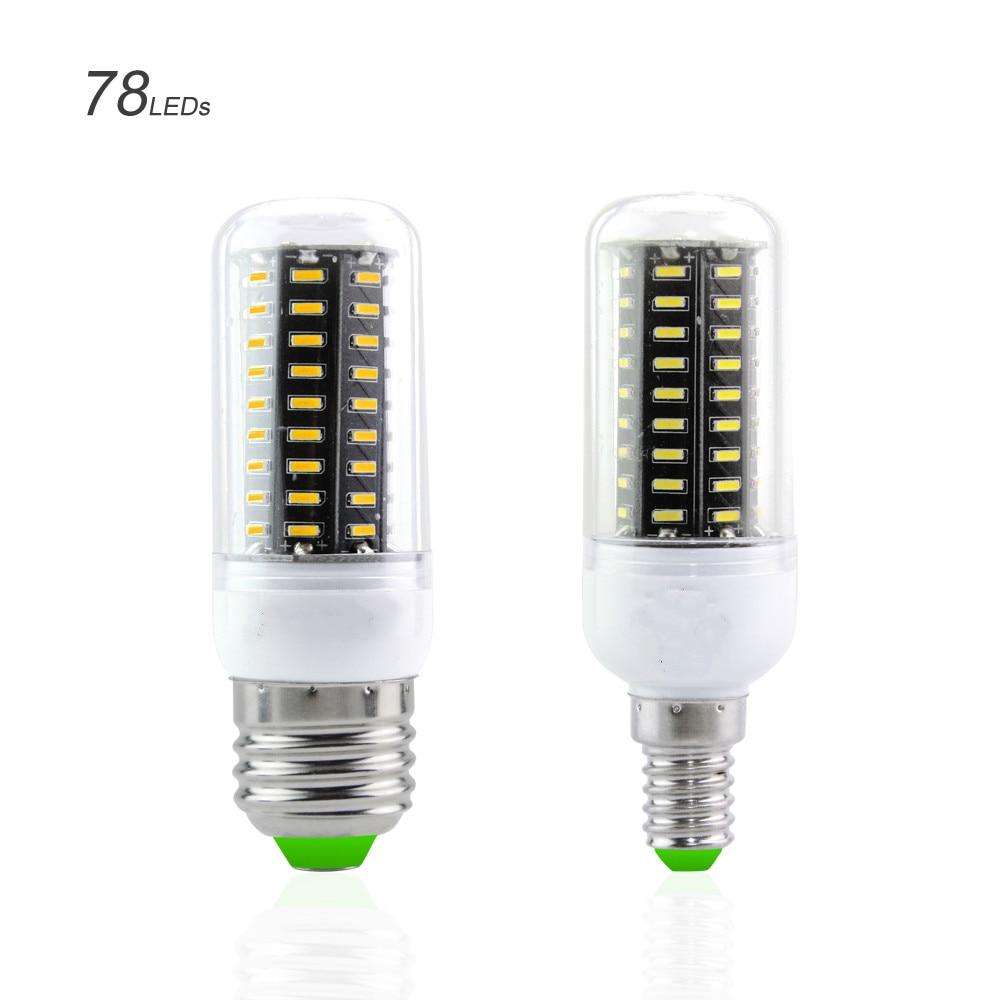 No Flicker Home/Indoor Decoration Lighting E14 / E27 SMD4020 Led Corn Bulbs Lamps Lamapada 38/55/78/88/140Leds AC220V-240V